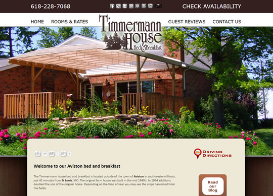 Timmermann House Bed and Breakfast New Responsive Design